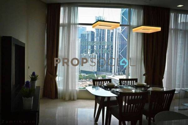 For Rent Condominium at Quadro Residences, KLCC Freehold Semi Furnished 4R/5B 9k