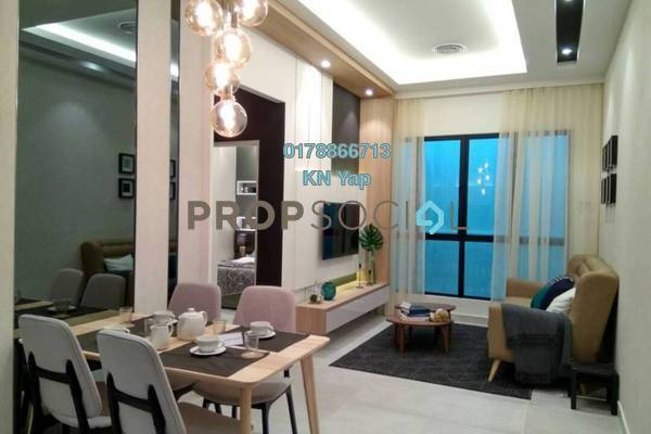 For Sale Serviced Residence at Taman Connaught, Cheras Freehold Semi Furnished 2R/2B 336k