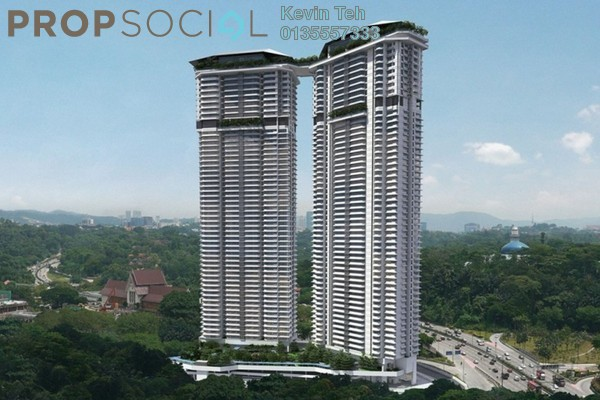 For Rent Condominium at The Sentral Residences, KL Sentral Freehold Fully Furnished 1R/2B 5k