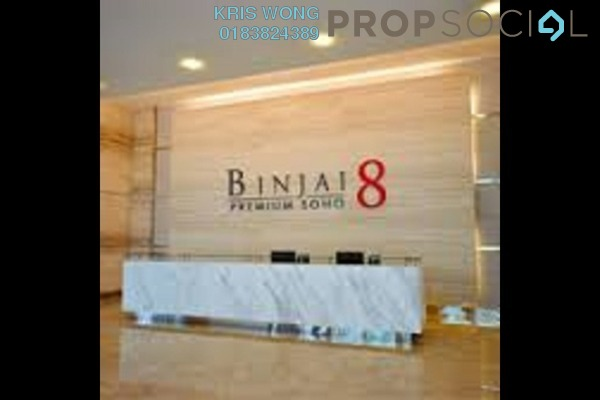 For Rent Condominium at Binjai 8, KLCC Freehold Fully Furnished 1R/1B 3.3k