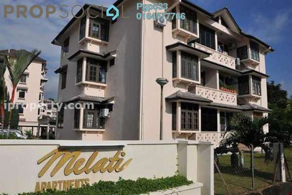 For Sale Apartment at Melati Apartment, Setapak Freehold Semi Furnished 3R/2B 398k