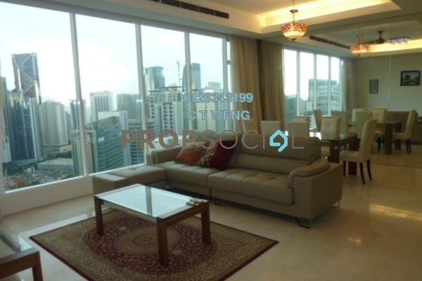 For Rent Condominium at Vipod Suites, KLCC Freehold Semi Furnished 4R/5B 9k
