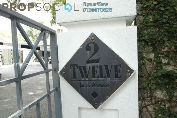 For Sale Apartment at Two-Twelve, Ampang Hilir Freehold Unfurnished 2R/2B 830k