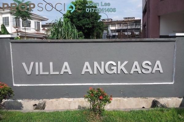 For Sale Apartment at Villa Angkasa, Sentul Freehold Semi Furnished 3R/2B 320k