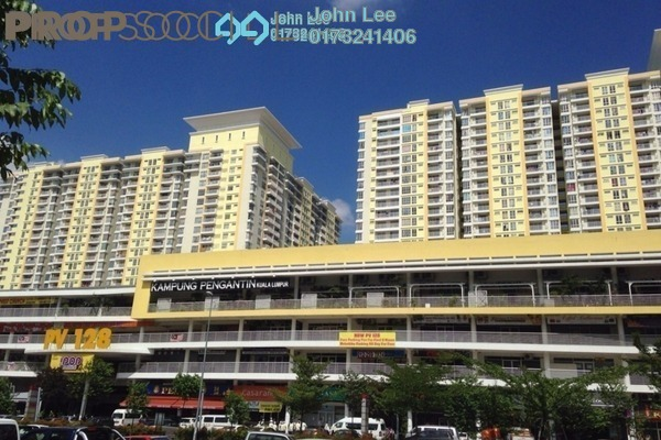 For Sale Shop at Platinum Mondrian PV128, Setapak Leasehold Fully Furnished 0R/0B 5.5m