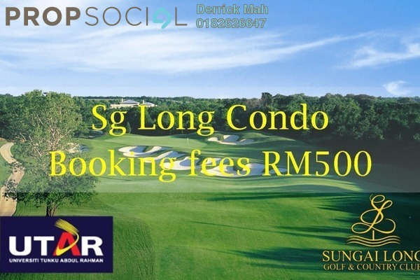 For Sale Condominium at Iris Residence, Bandar Sungai Long Freehold Unfurnished 3R/2B 488k