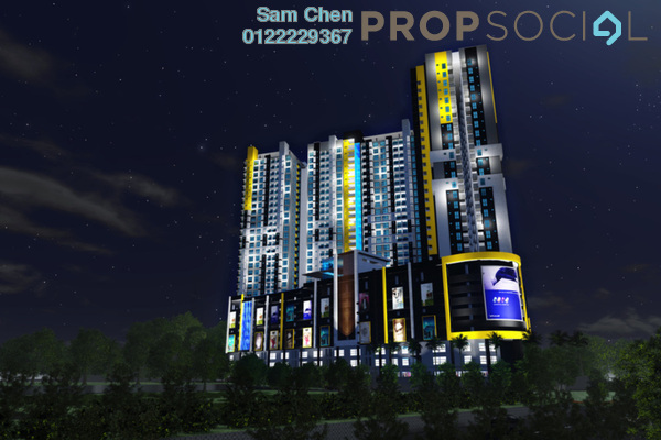For Sale SoHo/Studio at Silk Sky, Balakong Freehold Fully Furnished 1R/1B 380k