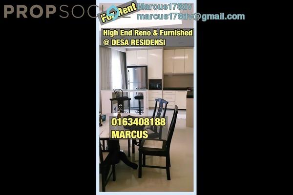 For Rent Condominium at Residensi Desa, Kuchai Lama Freehold Semi Furnished 3R/3B 1.6k