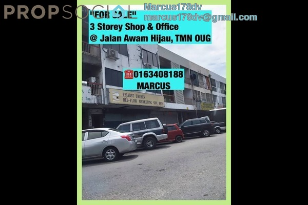 For Sale Shop at Taman OUG, Old Klang Road Freehold Semi Furnished 0R/1B 3.3m