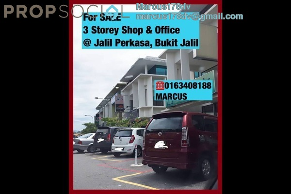 For Sale Shop at Taman Esplanad, Bukit Jalil Freehold Semi Furnished 1R/1B 3.28m