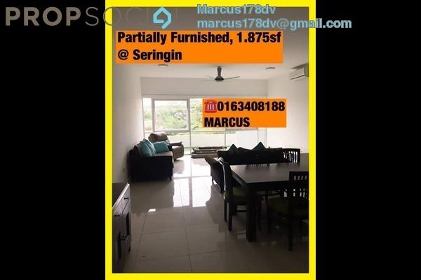 For Rent Condominium at Seringin Residences, Kuchai Lama Freehold Semi Furnished 3R/3B 4k