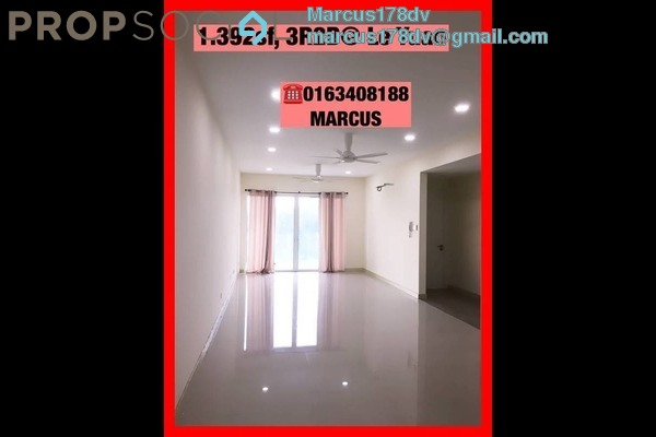 For Rent Condominium at Le Yuan Residence, Kuchai Lama Freehold Semi Furnished 3R/3B 2.3k