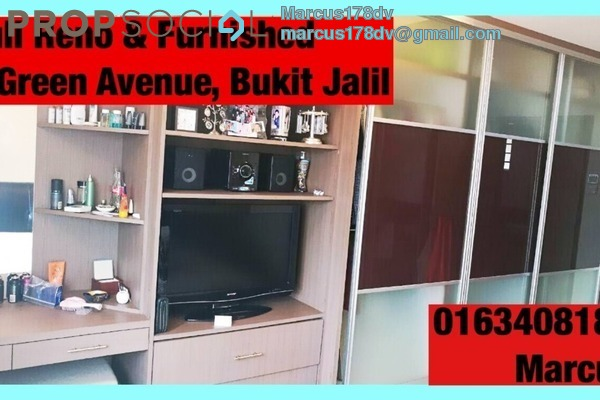 For Sale Condominium at Green Avenue, Bukit Jalil Freehold Fully Furnished 3R/2B 548k