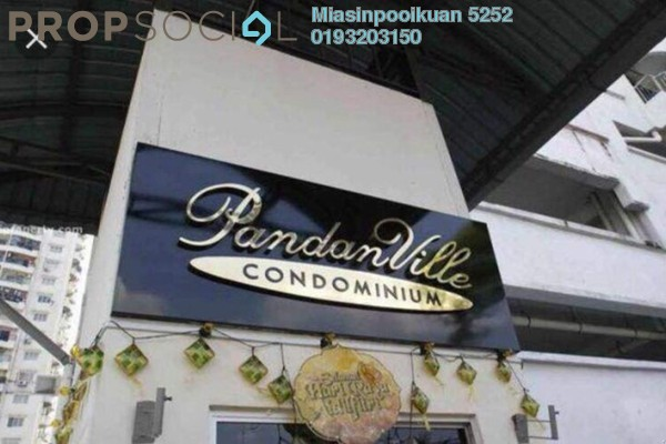 For Rent Condominium at Pandan Residence 1, Johor Bahru Freehold Semi Furnished 0R/0B 1.4k