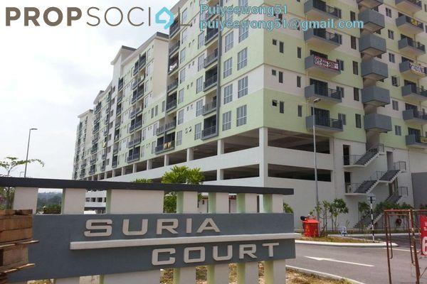 For Rent Apartment at Suria Court, Bandar Mahkota Cheras Freehold Semi Furnished 3R/2B 1.15k