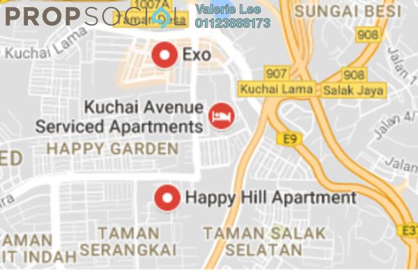 For Rent Apartment at Kuchai Entrepreneurs Park, Kuchai Lama Freehold Unfurnished 2R/2B 1.2k
