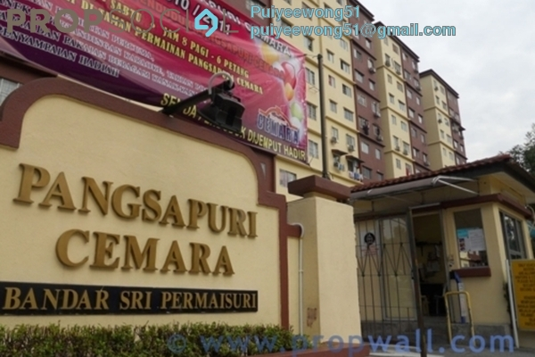 For Rent Apartment at Cemara Apartment, Bandar Sri Permaisuri Leasehold Fully Furnished 3R/2B 1.4k