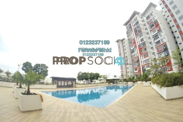 For Sale Condominium at Diamond Residence @ Serdang, Seri Kembangan Leasehold Fully Furnished 4R/3B 450k