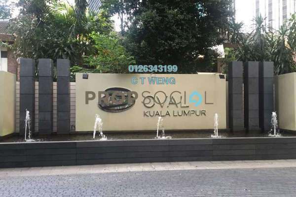 For Rent Condominium at The Oval, KLCC Freehold Semi Furnished 4R/5B 11k