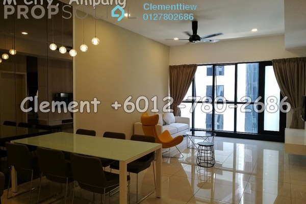 For Rent Condominium at M City, Ampang Hilir Freehold Fully Furnished 2R/2B 2.85k