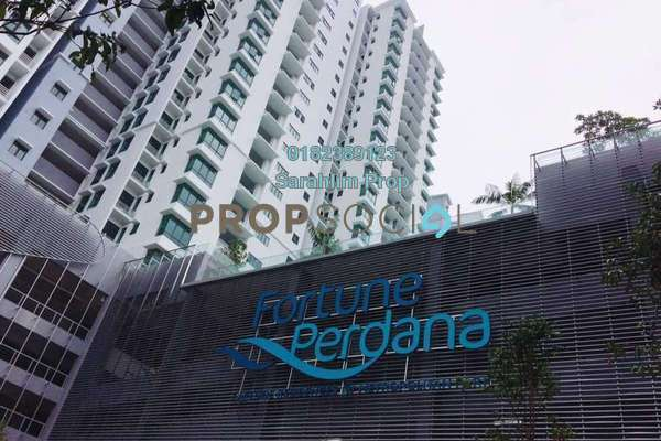 For Rent Condominium at Fortune Perdana Lakeside, Kepong Freehold Semi Furnished 3R/2B 1.6k