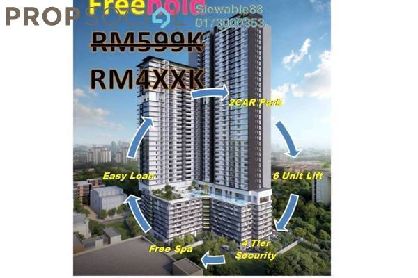 For Sale Condominium at Rica Residence, Sentul Freehold Unfurnished 3R/2B 499k