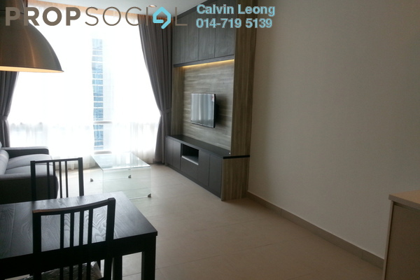 For Rent SoHo/Studio at Soho Suites, KLCC Freehold Semi Furnished 1R/1B 4k