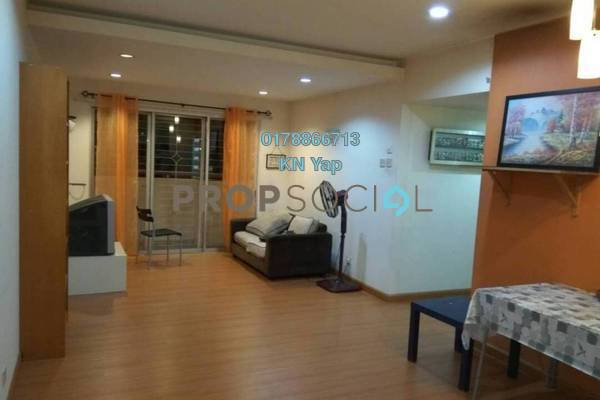 For Rent Condominium at Saraka Apartment, Pusat Bandar Puchong Freehold Fully Furnished 3R/2B 1.2k