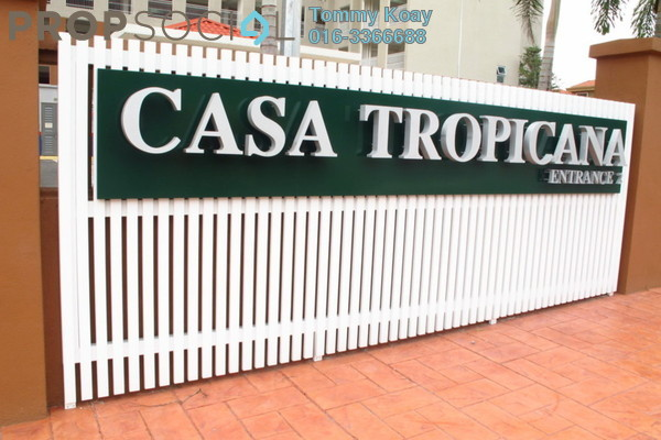 For Rent Condominium at Casa Tropicana, Tropicana Leasehold Fully Furnished 3R/2B 3.2k