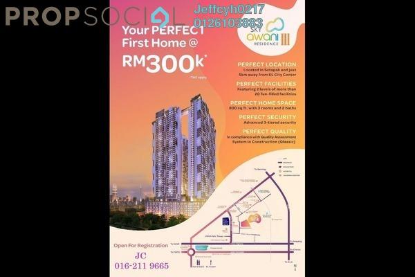 For Sale Condominium at SkyAwani, Sentul Freehold Unfurnished 3R/2B 300k