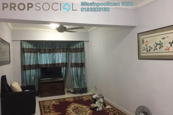 For Rent Condominium at Mawar Apartment, Sentul Freehold Semi Furnished 3R/2B 1.5k