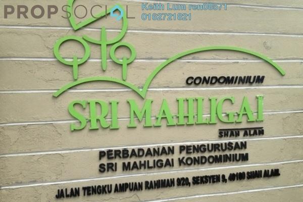For Sale Condominium at Sri Mahligai, Shah Alam Freehold Fully Furnished 3R/2B 450k