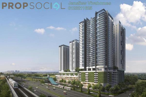 For Sale Condominium at AERA Residence , Petaling Jaya Freehold Semi Furnished 2R/1B 370k