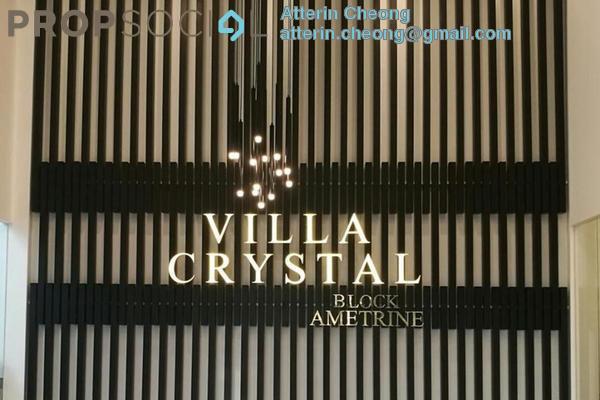 For Rent Condominium at Villa Crystal, Segambut Freehold Semi Furnished 3R/3B 2k