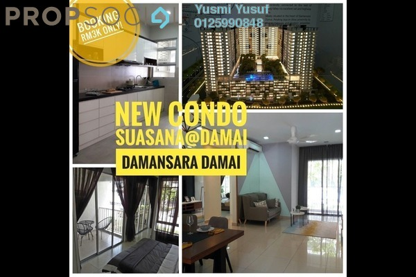 For Sale Condominium at Residensi Suasana, Damansara Damai Freehold Unfurnished 3R/2B 488k
