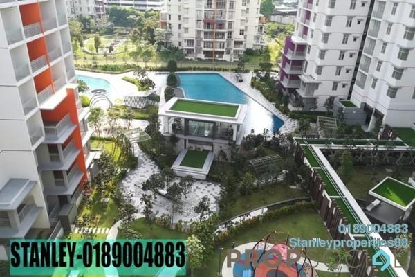For Rent Condominium at Midfields 2, Sungai Besi Freehold Semi Furnished 3R/2B 1.5k