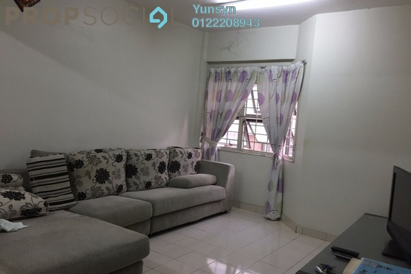 For Sale Apartment at Fortune Court, Kepong Freehold Fully Furnished 3R/2B 288k