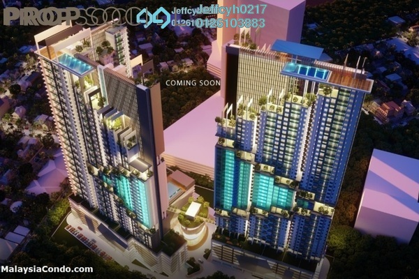 For Sale Condominium at Ascenda Residence @ SkyArena, Setapak Leasehold Unfurnished 3R/2B 571k
