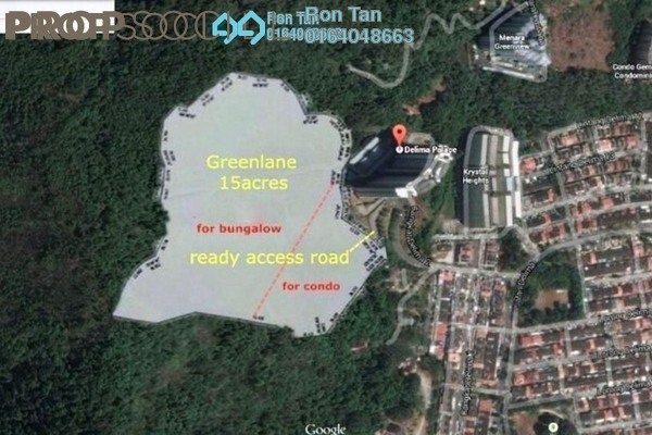 For Sale Land at Cangkat Delima, Green Lane Freehold Unfurnished 0R/0B 32.7m