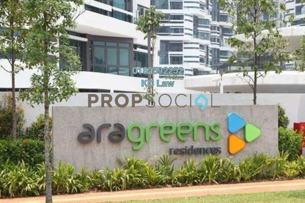 For Rent Condominium at AraGreens Residences, Ara Damansara Freehold Semi Furnished 2R/1B 1.7k