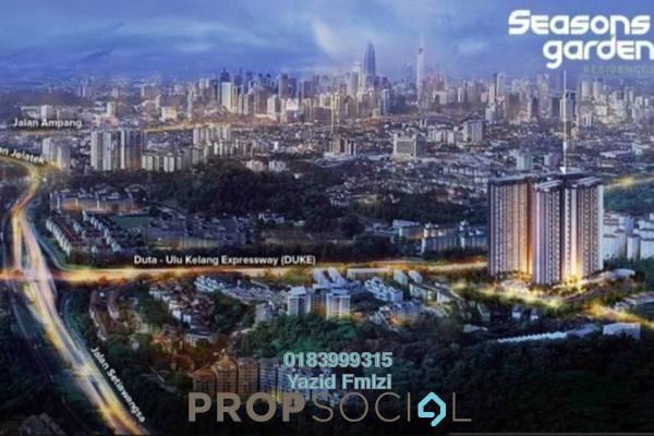 For Sale Condominium at Seasons Garden Residences, Wangsa Maju Freehold Unfurnished 3R/2B 550k