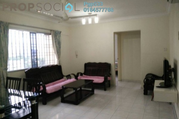 For Rent Apartment at Taman Pekaka, Sungai Dua Freehold Fully Furnished 3R/2B 1.15k