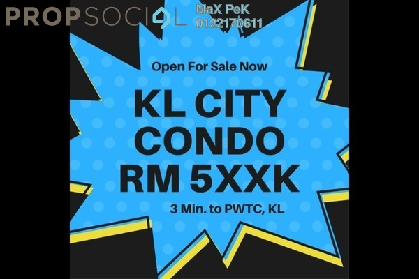 For Sale Condominium at Rica Residence, Sentul Freehold Unfurnished 3R/2B 540k