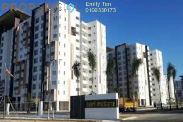 For Rent Apartment at Seri Mutiara, Setia Alam Freehold Semi Furnished 3R/2B 1k
