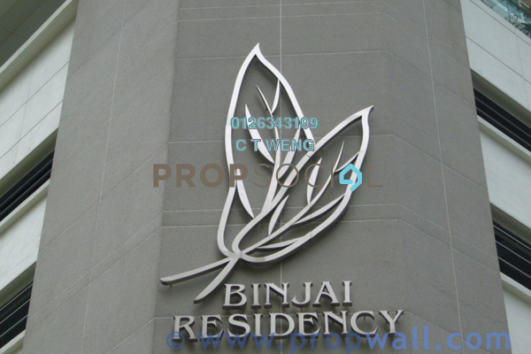 For Sale Condominium at Binjai Residency, KLCC Freehold Semi Furnished 6R/6B 1.98m