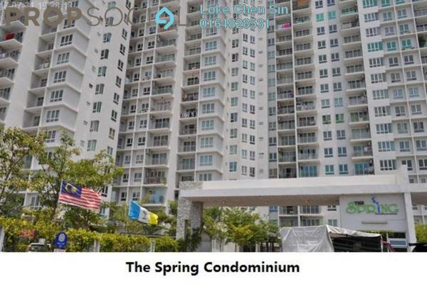 For Rent Condominium at The Spring, Jelutong Freehold Semi Furnished 3R/2B 1.4k