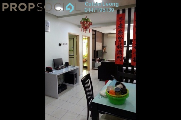 For Rent Apartment at Kepong Baru, Kepong Freehold Semi Furnished 3R/2B 1.2k
