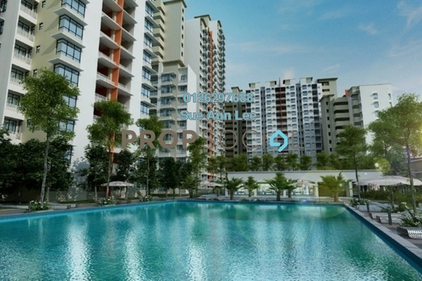 For Rent Serviced Residence at Fortune Perdana Lakeside, Kepong Freehold Semi Furnished 3R/2B 1.5k