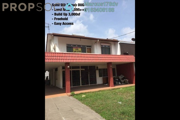 For Rent Semi-Detached at Taman OUG, Old Klang Road Freehold Semi Furnished 5R/4B 3.8k
