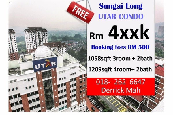 For Sale Condominium at Iris Residence, Bandar Sungai Long Freehold Unfurnished 3R/2B 480k